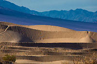 Ripples, curves, swirls and waves are numerous at Mesquite Dunes at Death Valley National Park, California