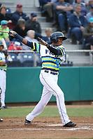 Ronald Rosario (10) of the Everett AquaSox bats against the Boise Hawks at Everett Memorial Stadium on July 21, 2017 in Everett, Washington. Boise defeated Everett, 10-4. (Larry Goren/Four Seam Images)