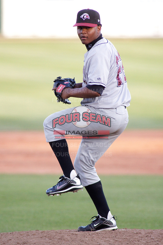 August 3, 2009:  Santiago Garrido of the Idaho Falls Chukars, Rookie Class-A affiliate of the Kansas City Royals, during a game at the Orem Owlz Ballpark in Orem, UT. Photo by: Matthew Sauk/Four Seam Images