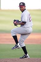 August 3, 2009:  Santiago Garrido of the Idaho Falls Chukars, Rookie Class-A affiliate of the Kansas City Royals, during a game at the Orem Owlz Ballpark in Orem, UT. Photo by: Matthew Sauk/Four Seam Images