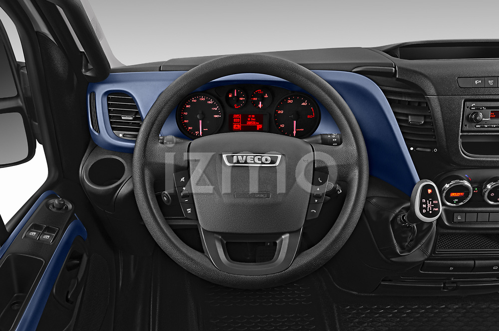 Car pictures of steering wheel view of a 2018 Iveco Daily S 4 Door Cargo Van Steering Wheel