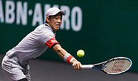 Rotterdam, The Netherlands, 5 march  2021, ABNAMRO World Tennis Tournament, Ahoy,  Quarter final: Kei Nishikori (JPN).<br /> Photo: www.tennisimages.com/henkkoster