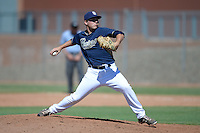 San Diego Padres pitcher Colby Blueberg (94) during an Instructional League game against the Chicago White Sox on October 3, 2014 at Peoria Stadium Training Complex in Peoria, Arizona.  (Mike Janes/Four Seam Images)