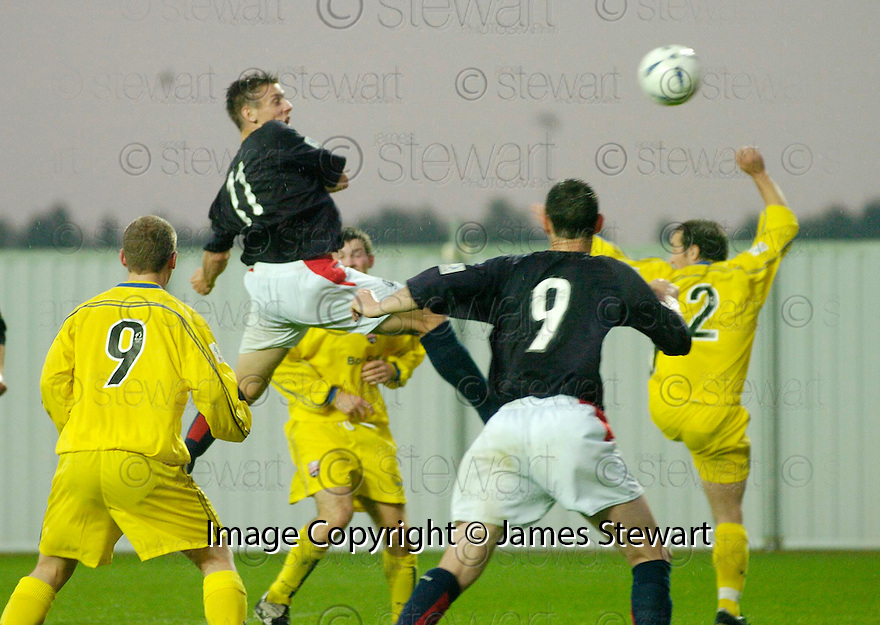 10/08/2004   Copyright Pic: James Stewart.File Name : jspa03_falkirk_v_montrose.DARRYLL DUFFY SCORES FALKIRK'S SECOND.Payments to :.James Stewart Photo Agency 19 Carronlea Drive, Falkirk. FK2 8DN      Vat Reg No. 607 6932 25.Office     : +44 (0)1324 570906     .Mobile  : +44 (0)7721 416997.Fax         :  +44 (0)1324 570906.E-mail  :  jim@jspa.co.uk.If you require further information then contact Jim Stewart on any of the numbers above.........