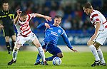 St Johnstone v Hamilton Accies...10.05.11.Chris Millar and Jon Routledge.Picture by Graeme Hart..Copyright Perthshire Picture Agency.Tel: 01738 623350  Mobile: 07990 594431