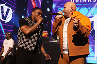 NEW YORK, NY- SEPTEMBER 14: Nelly And Fat Joe pictured at Fat Joe And Ja Rule Verzuz Battle at The Hulu Theater at Madison Square Garden in New York City on September 14, 2021. Credit: Walik Goshorn/MediaPunch