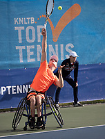 Amstelveen, Netherlands, 22 Augustus, 2020, National Tennis Center, NTC, NKR, National  Wheelchair Tennis Championships, Junior Boys single: Robin Groenewoud (NED)  Maarten ter Hofte (NED)<br /> Photo: Henk Koster/tennisimages.com