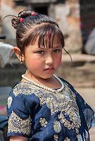 Nepal, Kathmandu.  Young Hindu Nepalese Girl.