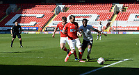 24th April 2021; The Valley, London, England; English Football League One Football, Charlton Athletic versus Peterborough United; Peterboroughs Siriki Dembélé breaks outside the Charmton defense as he keeps control of the ball in the box