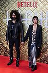 Ara Malikian and Nata Moreno attends to 'HACHE' Photocall at Paz Cinema in Madrid, Spain. October 16, 2019. (ALTERPHOTOS/A. Perez Meca)
