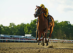 OCEANPORT, NJ - JULY 29: Good Magic, # 8, ridden by Jose Ortiz, wins the Haskell Invitational Stakes on Haskell Invitational Day at Monmouth Park Race Course on July 29, 2018 in Oceanport, New Jersey. (Photo by Scott Serio/Eclipse Sportswire/Getty Images)