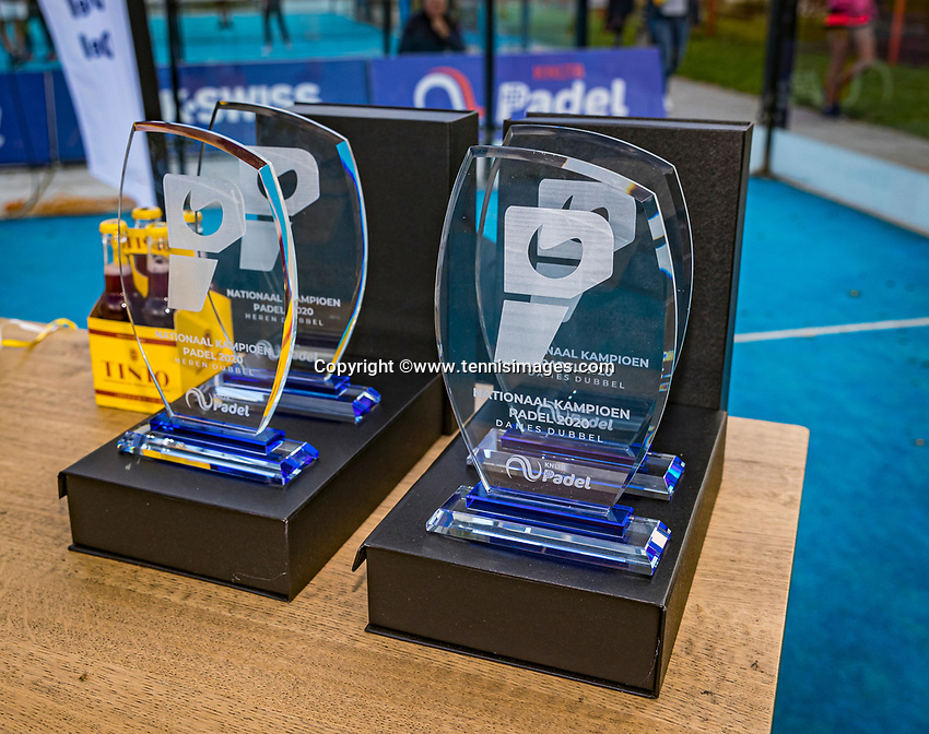 Netherlands, September 6,  2020, Amsterdam, Padel Dam, NK Padel, National Padel Championships, Men's doubles final: prizetable<br /> Photo: Henk Koster/tennisimages.com
