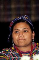 FILE PHOTO - Nobel Prize winner Rigoberta Menchu, Nov 1992 (exact date unknown)<br /> <br /> <br /> PHOTO :   Agence quebec Presse