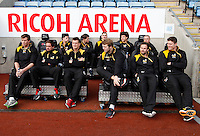 Photo: Richard Lane/Richard Lane Photography. Wasps Open Training Session at the Ricoh Arena ahead of their first game at the stadium. 16/12/2014. Wasps players.