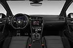 Stock photo of straight dashboard view of a 2017 Volkswagen Golf R 5 Door Hatchback
