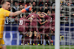 Venezuela's players celebrate goal during International Adidas Cup match between Argentina and Venezuela at Wanda Metropolitano Stadium in Madrid, Spain. March 22, 2019. (ALTERPHOTOS/A. Perez Meca)