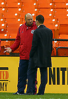 WASHINGTON, D.C - March 29 2014: D.C. United vs the Chicago Fire in an MLS match at RFK Stadium, in Washington D.C. The game ended in a 2-2 tie.