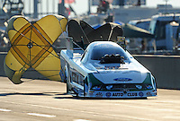 Jul, 9, 2011; Joliet, IL, USA: NHRA funny car driver Mike Neff during qualifying for the Route 66 Nationals at Route 66 Raceway. Mandatory Credit: Mark J. Rebilas-