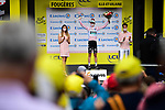 Ide Schelling (NED) Bora-Hansgrohe retains the mountains Polka Dot Jersey at the end of Stage 4 of the 2021 Tour de France, running 150.4km from Redon to Fougeres, France. 29th June 2021.  <br /> Picture: A.S.O./Pauline Ballet   Cyclefile<br /> <br /> All photos usage must carry mandatory copyright credit (© Cyclefile   A.S.O./Pauline Ballet)