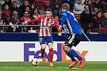 Atletico de Madrid Kevin Gameiro and FC Copenhague William Kvist during Europa League match between Atletico de Madrid and FC Copenhague at Wanda Metropolitano in Madrid , Spain. February 22, 2018. (ALTERPHOTOS/Borja B.Hojas)