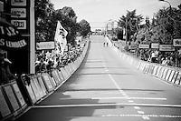 Dries De Bondt (BEL/Verandas Willems) & Jens Keukeleire (BEL/Orica-GreenEDGE) have an open road towards the finish line<br /> <br /> 69th Halle-Ingooigem 2016 (200km)
