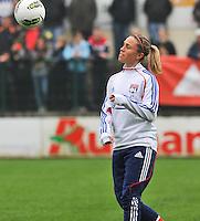 1/2 finale Coupe De France in Arras , stade Degouve : Arras - Olympique Lyonnais Lyon : Camille Abily.foto JOKE VUYLSTEKE / Vrouwenteam.be