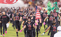 Stanford, Ca. - October 14, 2017: The Stanford Cardinal vs the Oregon Ducks in Stanford Stadium. Final score Stanford Cardinal 49, Oregon Ducks 7.