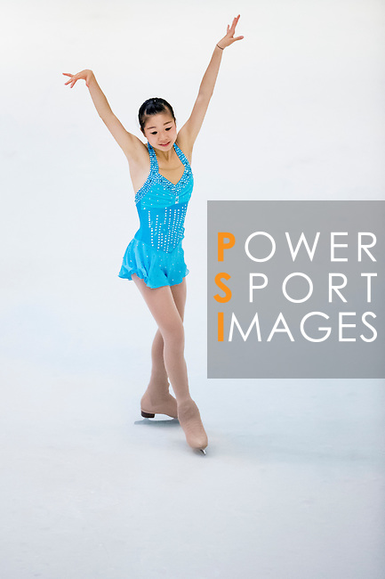 Yat Lok Chow competes during the Asian Junior Figure Skating Challenge 2015 on October 07, 2015 at the Festival Walk Mall in Hong Kong, China. Photo by Aitor Alcalde/ Power Sport Images