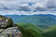 Scenic view of Owls Head Mountain from the summit of Bondcliff in the Pemigewasset Wilderness of New Hampshire during the summer months. This area was logged during the East Branch & Lincoln Logging Railroad (1893-1948) era.