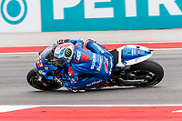 2nd October 2021; Austin, Texas, USA;  Alex Rins (42) - (SPA) riding a Suzuki for the Team SUZUKI ECSTAR during Free Practise 3 at the MotoGP Red Bull Grand Prix of the Americas held October 2, 2021 at the Circuit of the Americas in Austin, TX.
