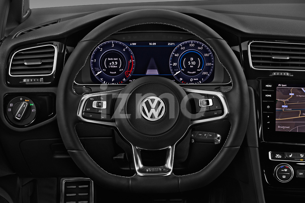 Car pictures of steering wheel view of a 2017 Volkswagen Golf GTD 5 Door Hatchback