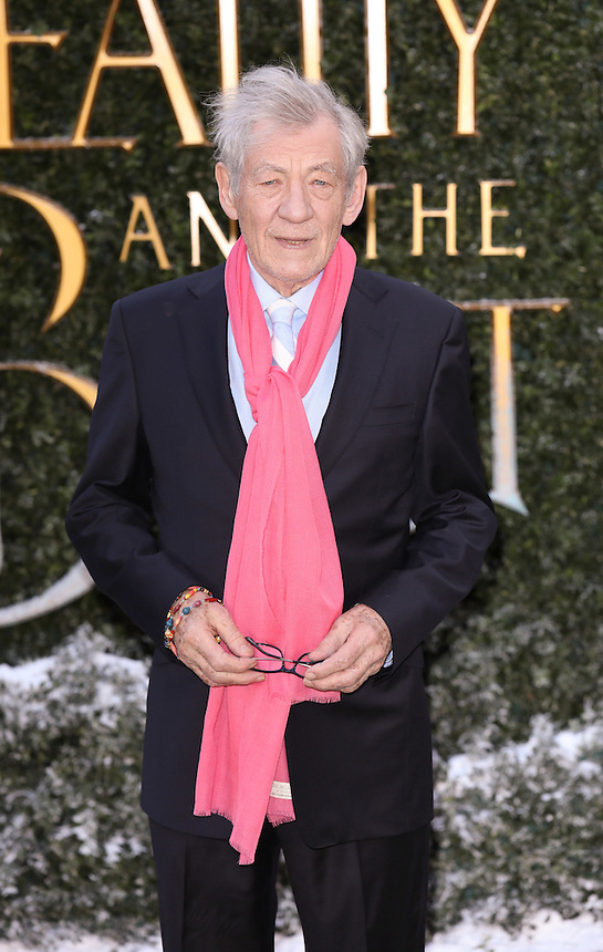 "Sir Ian McKellan<br /> arrives for the ""Beauty and the Beast"" screening, St.James', London.<br /> <br /> <br /> ©Ash Knotek  D3234  23/02/2017"