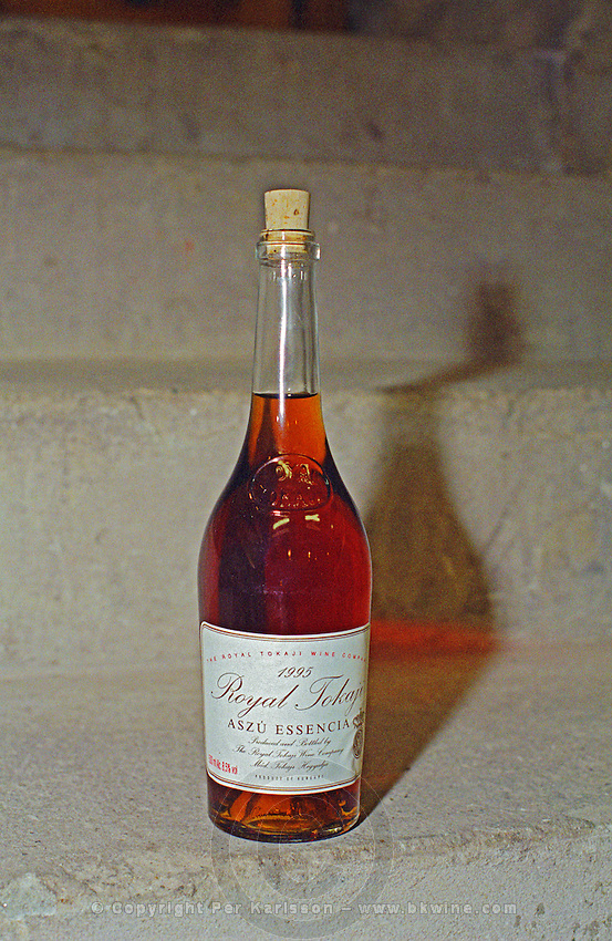 """The Royal Tokaji Wine company in Mad: a bottle of 1995 Royal Tokaji Aszu Essencia. The RTWC in was one of the first Tokaj wineries to be """"revived"""" by an injection of foreign capital. It makes wine in a traditional style. Credit Per Karlsson BKWine.com"""