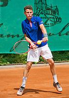 August 4, 2014, Netherlands, Dordrecht, TC Dash 35, Tennis, National Junior Championships, NJK,  Senne Shaw (NED)<br /> Photo: Tennisimages/Henk Koster