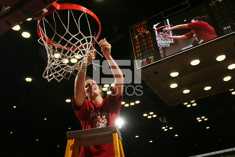 25 February 2007: Jillian Harmon during Stanford's 56-53 win over USC at Maples Pavilion in Stanford, CA.