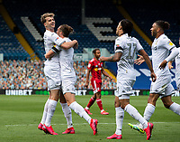 Leeds United's Patrick Bamford celebrates scoring the opening goal with teammates<br /> <br /> Photographer Alex Dodd/CameraSport<br /> <br /> The EFL Sky Bet Championship - Leeds United v Fulham - Wednesday 24th June 2020 - Elland Road - Leeds<br /> <br /> World Copyright © 2020 CameraSport. All rights reserved. 43 Linden Ave. Countesthorpe. Leicester. England. LE8 5PG - Tel: +44 (0) 116 277 4147 - admin@camerasport.com - www.camerasport.com<br /> <br /> Photographer Alex Dodd/CameraSport<br /> <br /> The Premier League - Newcastle United v Aston Villa - Wednesday 24th June 2020 - St James' Park - Newcastle <br /> <br /> World Copyright © 2020 CameraSport. All rights reserved. 43 Linden Ave. Countesthorpe. Leicester. England. LE8 5PG - Tel: +44 (0) 116 277 4147 - admin@camerasport.com - www.camerasport.com