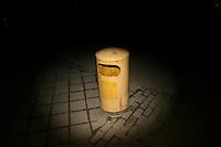 CHINA. Beijing. A trash can. 2008.
