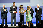 """The kings of Spain make delivery of accreditation to the new ambassadors fees """"Marca España"""" in his 6th edition to Ainhoa Arteta at BBVA City in Madrid, November 12, 2015.<br /> (ALTERPHOTOS/BorjaB.Hojas)"""