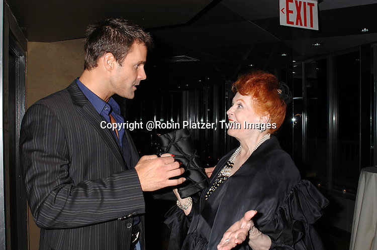 Cameron Mathison and  Arlene Dahl..at The Surprise 70th Birthday Party for All My Children's star Susan Lucci's husband Helmet Huber on October 10, 2007 at The Rainbow Room ....Photo by Robin Platzer, Twin images....212-935-0770