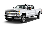 2018 Chevrolet Silverado 2500 LT Crew Cab 4 Door Pick Up angular front stock photos of front three quarter view
