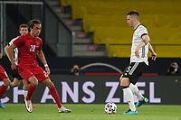 Niklas Süle (Deutschland Germany) gegen Yussuf Poulsen (Dänemark, Denmark) - Innsbruck 02.06.2021: Deutschland vs. Daenemark, Tivoli Stadion Innsbruck