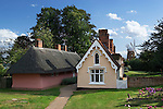Great Britain, England, Essex, Thaxted: Almshouses, built in early 18th century to house 16 local old people, and John Webb`s Windmill, built in 1804