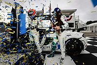 #3 Motorsports In Action McLaren 570S GT4, GS: Sheena Monk, Corey Lewis, podium, celebration