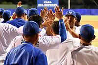 MONTERIA - COLOMBIA, 15-11-2019: Vaqueros de Montería y Toros de Sincelejo en el juego 2 de la serie 2 de la Liga Profesional de Béisbol Colombiano temporada 2019-2020 jugado en el estadio estadio Dieciocho de Junio de la ciudad de Montería. Victoria para Vaqueros por marcador de 4-2. / Vaqueros de Monteria and Toros de Sincelejo in match 2 series 2 as part Colombian Baseball Professional League season 2019-2020 played at Baseball Stadium on June 18 in Monteria city. Victory to Vaqueros by score of 4-2, Photo: VizzorImage / Andres Felipe Lopez / Cont