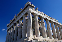 Athens, Greece, Europe, Erechtheion temple at the Acropolis.