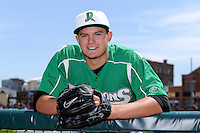 Dayton Dragons pitcher Sal Romano #39 poses for a photo before a game against the Bowling Green Hot Rods on April 21, 2013 at Fifth Third Field in Dayton, Ohio.  Bowling Green defeated Dayton 7-5.  (Mike Janes/Four Seam Images)
