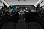 Stock photo of straight dashboard view of 2018 Chevrolet Volt Premier 5 Door Hatchback Dashboard