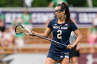 NEWTON, MA - MAY 22: Kelly Donnelly #2 of Notre Dame on field portrait during NCAA Division I Women's Lacrosse Tournament quarterfinal round game between Notre Dame and Boston College at Newton Campus Lacrosse Field on May 22, 2021 in Newton, Massachusetts.