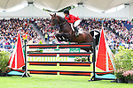 Equestrian - Showjumping - Meydan FEI Nations Cup.Cara Raether (USA) aboard Ublesco in action during the Meydan FEI Nations Cup at the Royal Dublin Society (RDS) in Dublin.