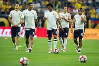 Photo before the match Colombia vs Costa Rica, Corresponding to  Group -A- of the America Cup Centenary 2016 at NRG Stadium.<br /> <br /> Foto previo al partido Colombia vs Costa Rica, Correspondiente al Grupo -A- de la Copa America Centenario 2016 en el Estadio NRG , en la foto:(i-d) Daniel Torres, Edwin Cardona, Juan Cuadrado, Santoago Arias y Farid Diaz de Colombia<br /> <br /> <br /> 11/06/2016/MEXSPORT/Jorge Martinez.